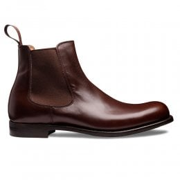 Barnes D Chelsea Boot in Brown Calf Leather