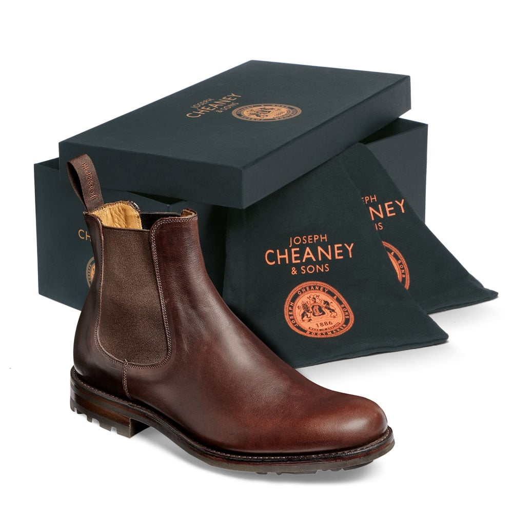 Cheaney Barnes Iii B Men S Brown Chelsea Boot Made In England