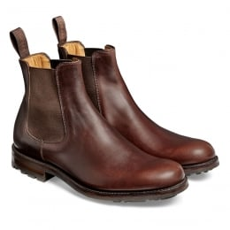 Barnes III B Chelsea Boot in Brown Pull Up Leather