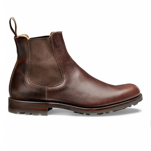 Cheaney Barnes III B Chelsea Boot in Brown Pull Up Leather
