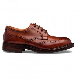 Beccles R Derby Brogue in Dark Leaf Calf Leather