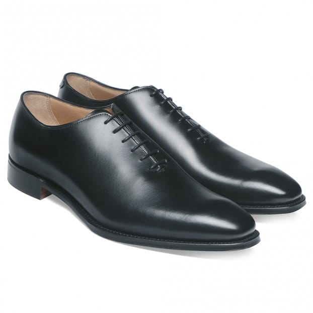 Cheaney Berkeley Whole Cut Oxford in Black Calf Leather