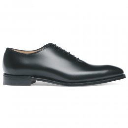 Berkeley Whole Cut Oxford in Black Calf Leather