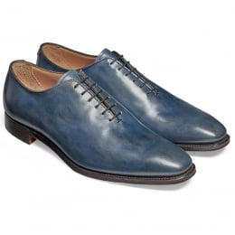 Berkeley Whole Cut Oxford in Blue Calf Leather
