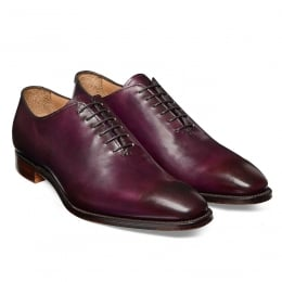 Berkeley Whole Cut Oxford in Burnished Aubergine Calf Leather