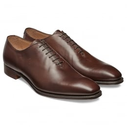 Berkeley Whole Cut Oxford in Burnished Mocha Calf Leather