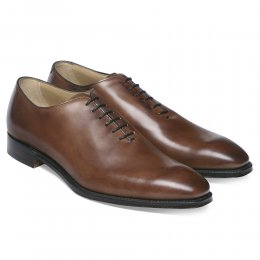 Berkeley Whole Cut Oxford in Conker Calf Leather