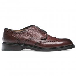 Bexhill Wingcap Derby Brogue in Burgundy Grain Leather