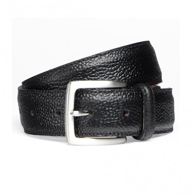 Cheaney Black Grain Belt with Silver Buckle