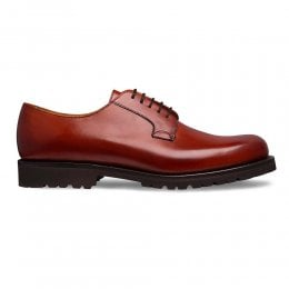 Bloomsbury Derby Shoe in Dark Leaf Calf Leather