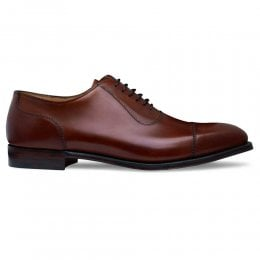 Brackley Capped Oxford in Dark Leaf Calf Leather