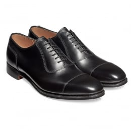 Brackley Oxford in Black Calf Leather