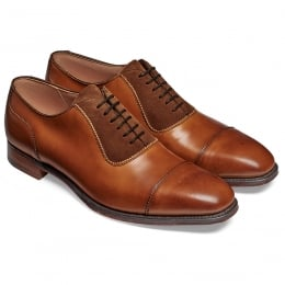Brackley Oxford in Burnished Chestnut Calf/ Fox Suede