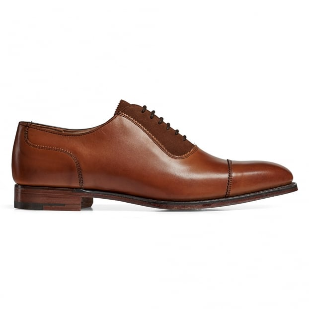 Cheaney Brackley Oxford in Burnished Chestnut Calf/ Fox Suede
