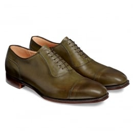 Brackley Oxford in Burnished Olive Calf Leather