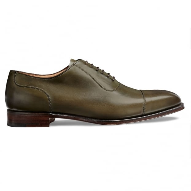 Cheaney Brackley Oxford in Burnished Olive Calf Leather