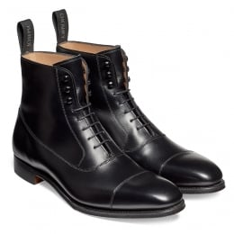 Brixworth Balmoral Boot in Black Calf Leather