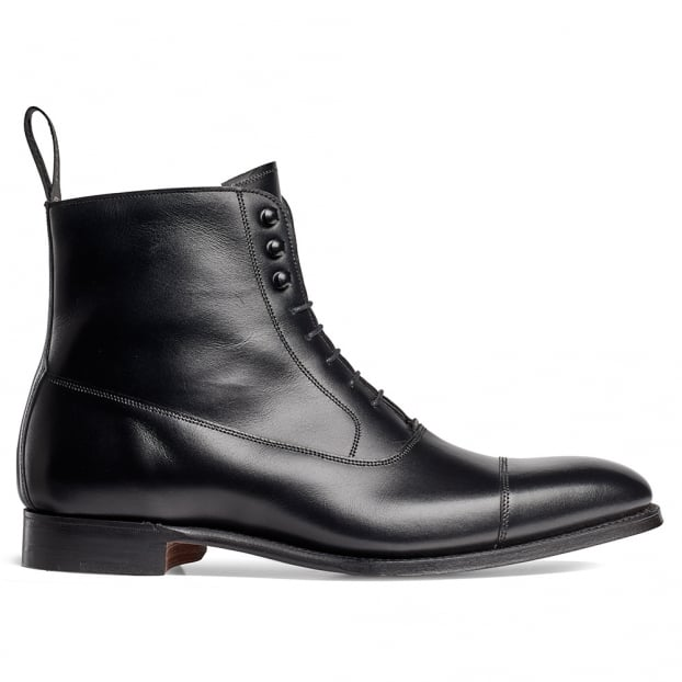 Cheaney Brixworth Balmoral Boot in Black Calf Leather