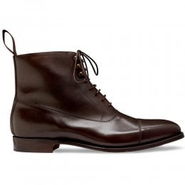 Brixworth Balmoral Boot in Burnished Mocha Calf Leather