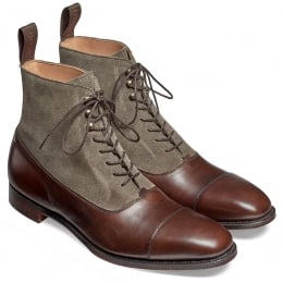 Brixworth Balmoral Boot in Burnished Mocha Calf/ Tarn Suede