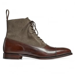 Brixworth Balmoral Boot in Burnished Mocha Calf/Tarn Suede