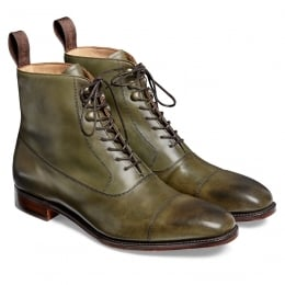 Brixworth Balmoral Boot in Burnished Olive Calf Leather