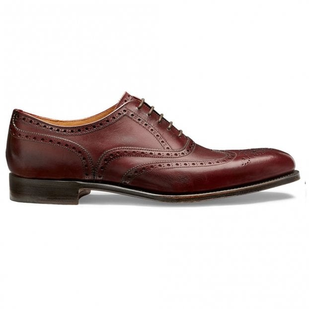 Cheaney Broad II Oxford Wingcap Brogue in Burgundy Calf Leather