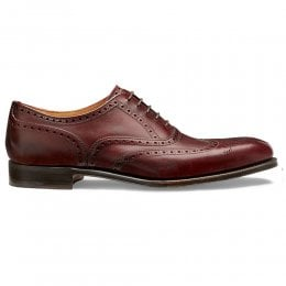 Broad II Oxford Wingcap Brogue in Burgundy Calf Leather