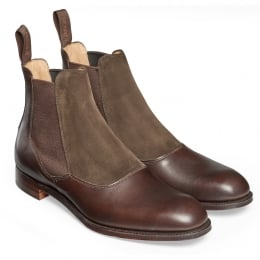 Brummel Chelsea Boot in Mocha Calf Leather/Pony Suede