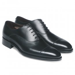 Buckingham Oxford in Black Calf Leather