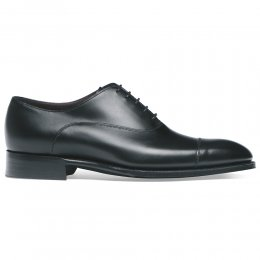 Buckingham Oxford in Black Calf Leather