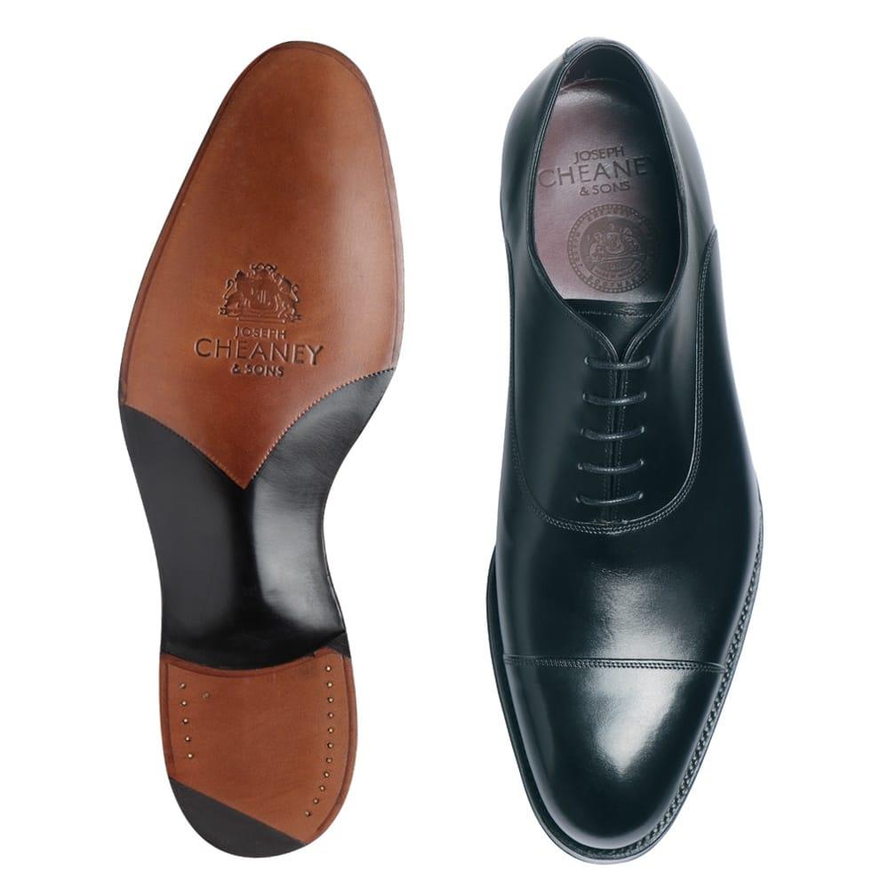 7f3e651c4c65 Cheaney Buckingham   Men's Black Leather Oxfords   Handmade in England