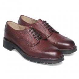 Cairngorm II R Country Derby Veldtschoen in Burgundy Grain