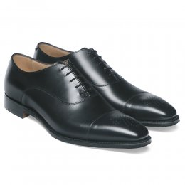 Cambridge Oxford in Black Calf Leather