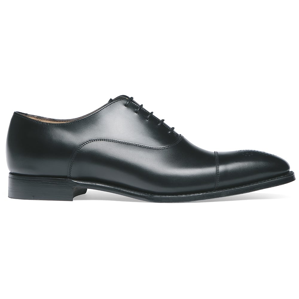 Men's Black Leather Oxford Shoes