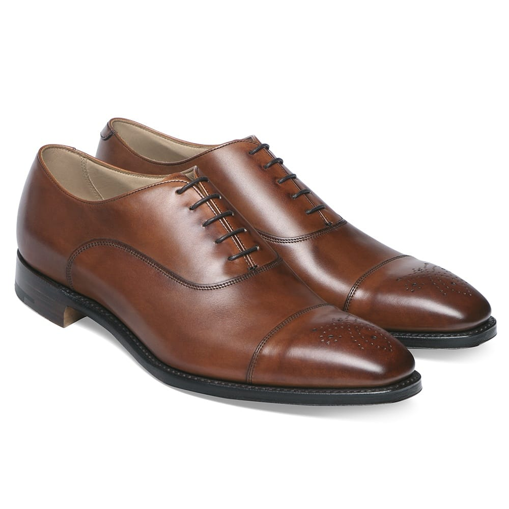 Cheaney Cambridge Men S Brown Leather Oxford Shoes Made In England