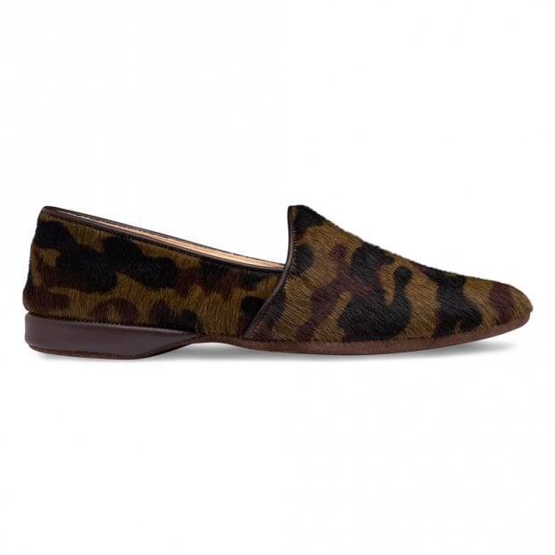 Cheaney Camo House Slippers in Camouflage Calf Hair