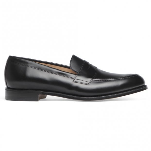 Cheaney Cannon Loafers in Black Calf Leather