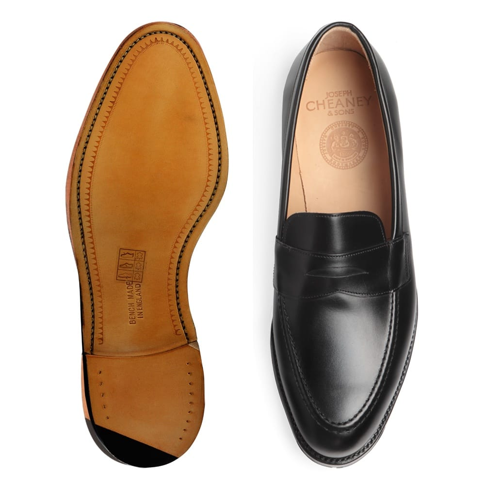 d0e2a3e9 Cheaney Cannon Loafers in Black Calf Leather