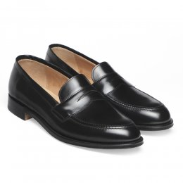 Cannon Loafers in Black Hi-Shine Leather