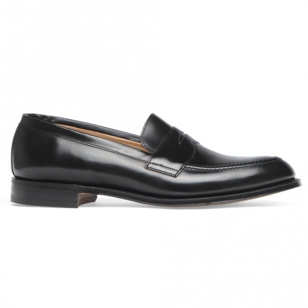 Cheaney Cannon Loafers in Black Hi-Shine Leather