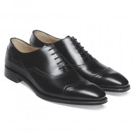 Cardiff Oxford in Black Calf Leather
