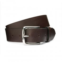 Casual Brown Belt with Silver Buckle
