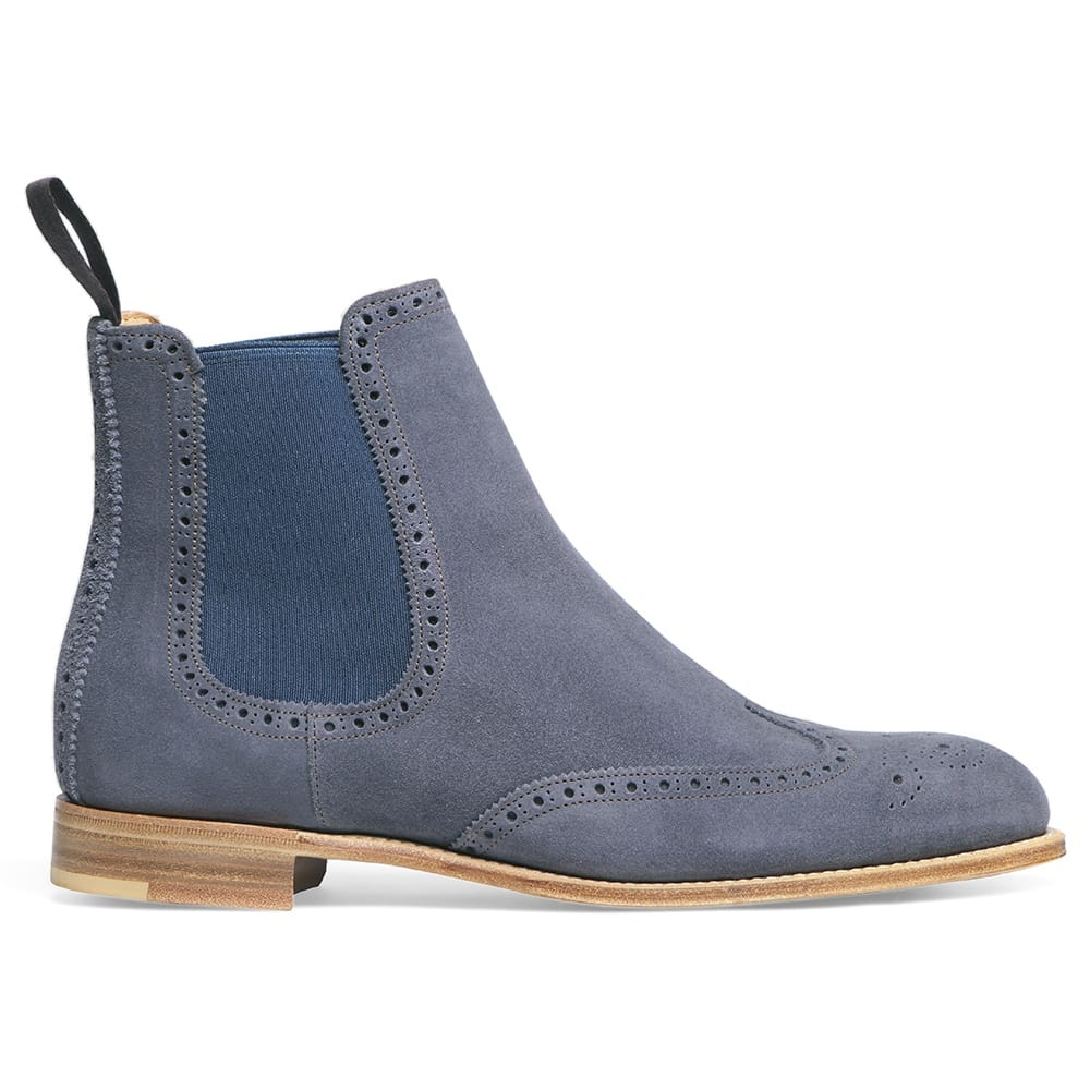 Cheaney Charlotte   Women's Navy Suede Chelsea Boot   Made ...