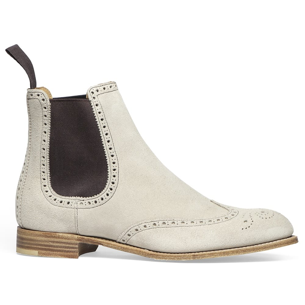 cheaney charlotte ladies beige suede chelsea boot made in england. Black Bedroom Furniture Sets. Home Design Ideas
