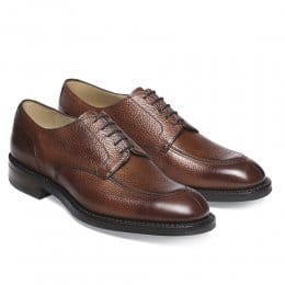 Chiswick R Derby in Mahogany Grain Leather