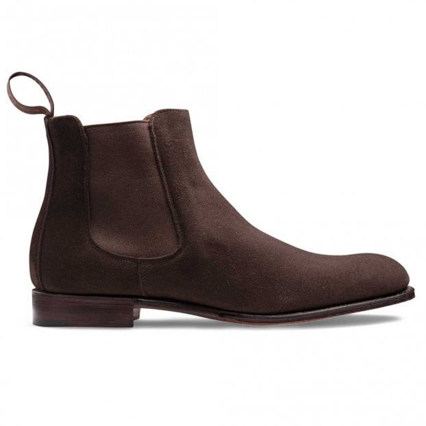 Cheaney Clara Chelsea Boot in Bitter Chocolate Suede