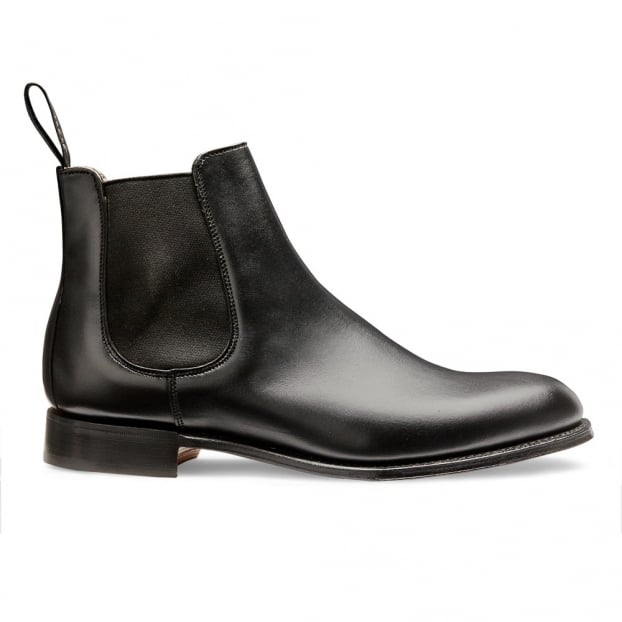 Cheaney Clara Chelsea Boot in Black Calf Leather