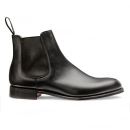 Clara Chelsea Boot in Black Calf Leather