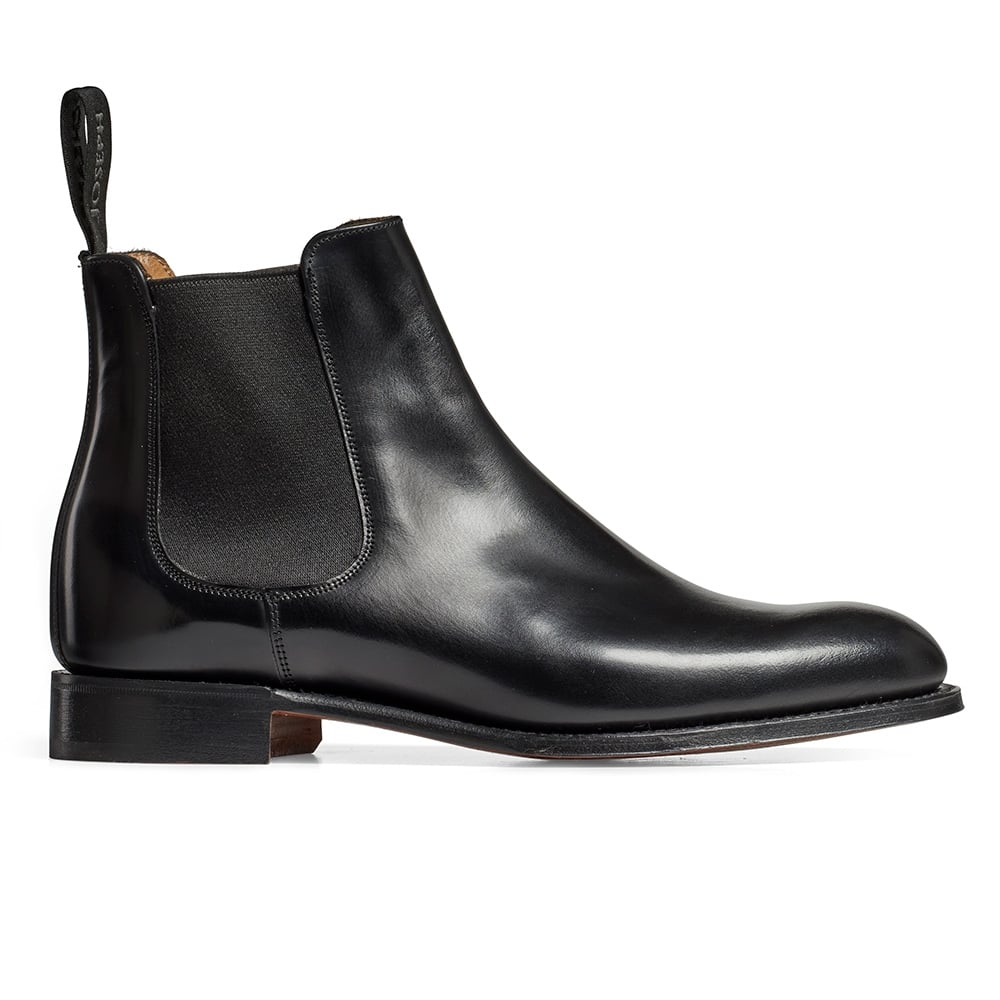 e408cb505c0b9 Clara Chelsea Boot in Black Hi Shine Calf Leather